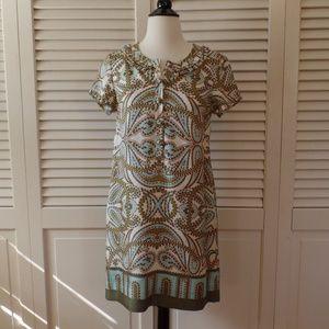 J.Crew Paisley 100% Silk Dress